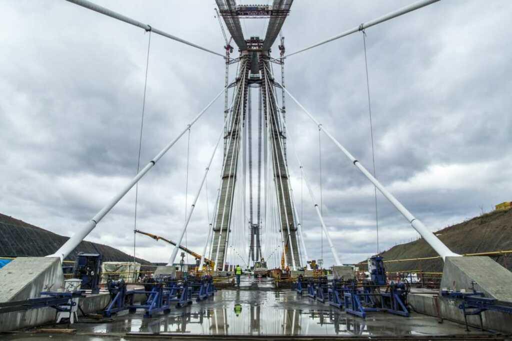 Üçüncü köprü yapım aşamasındayken.