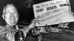 Yanlış çıkan manşet (1948)
