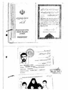 İran pasaportu.. Sahte..